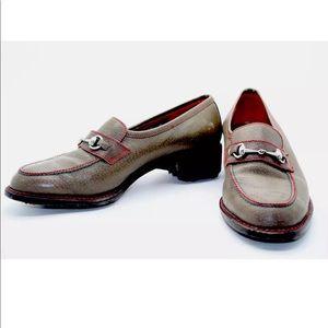 GUCCI Shoes - GUCCI Horse Bit Tan Red Green Golf Shoes 39 RARE!!